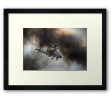 Apache HDR  - Dunsfold Wings and Wheels 2014 Framed Print