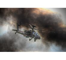 Apache HDR  - Dunsfold Wings and Wheels 2014 Photographic Print