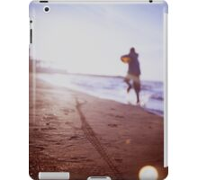 Boy running on beach square Lubitel lomo lomographic lomography medium format  color film analogue photo iPad Case/Skin