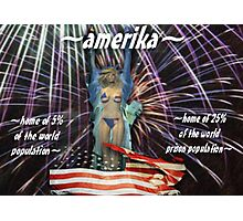 ~amerika~ (snippet) Photographic Print