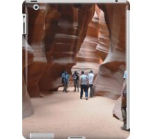 Antilope Canyon with hundsome men iPad Case/Skin