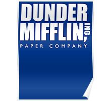 Dunder Mifflin Paper Company Title (White) - The Office Poster