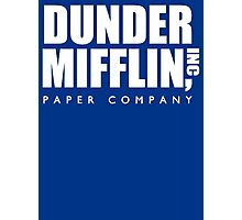 Dunder Mifflin Paper Company Title (White) - The Office Photographic Print