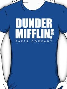 Dunder Mifflin Paper Company Title (White) - The Office T-Shirt