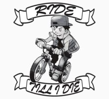 Pokemon Ride Till I Die (Different Font) Kids Clothes