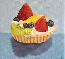 Fruit Tart Painting by Lagoldberg28