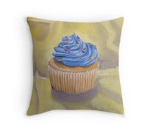 Vanilla Cupcake with Sprinkles Painting Throw Pillow
