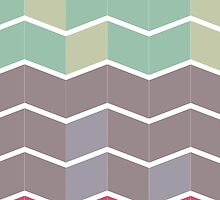 Pale Repeating Chevron  by gymsocks