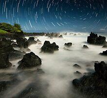 Volcanic Moonlight - Maui  by Michael Treloar