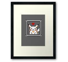 Happy Pikachu (Retro) Framed Print