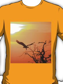 White-backed Vulture - Flying into the Sun. T-Shirt