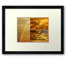 The Dragon and the Phoenix after the rain Framed Print