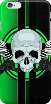 Wing Skull - GREEN by Adamzworld