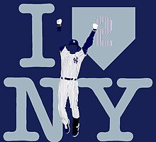 """I LOVE NY"" Derek Jeter by BeinkVin"