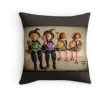 Tell Us A Happy Halloween Story! Throw Pillow