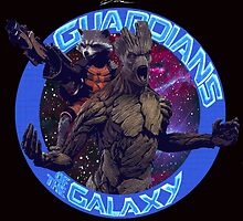 Groot and Rocket - Guardians of the Galaxy by Leamartes