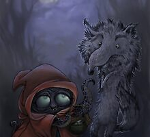 Bad Wolf Meets Little Red by luisapizza