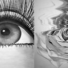 Eye and Flower Diptych by Mui-Ling Teh