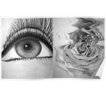 Eye and Flower Diptych Poster