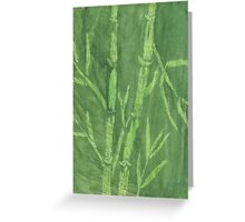 """Green Bamboo"" (monochromatic hue series) Greeting Card"