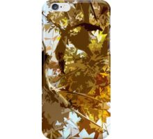GAZING INTO THE AUTUMN TREES iPhone Case/Skin