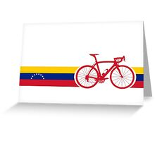 Bike Stripes Venezuela  Greeting Card