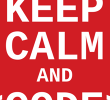 Developer? Keep Calm and Code On Sticker