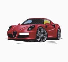Alfa Romeo 4C Red by Richard Yeomans