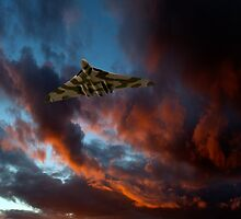 Avro Vulcan sunset by Gary Eason + Flight Artworks