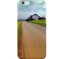 Country road into vibrant scenery   landscape photography iPhone Case/Skin