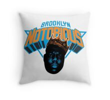 Brooklyn Notorious Throw Pillow