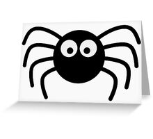 Little black spider Greeting Card