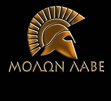 Molon lave-Spartan warrior-lithos font by augustinet
