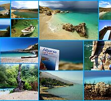 Collage/Postcard from Albania 3 - Travel Photography by JuliaRokicka