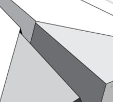 Paper Airplane 5 Sticker