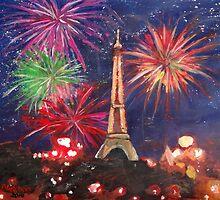 Paris New Years Eve firework by artshop77