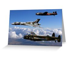 Avro Vulcan and Lancasters Greeting Card