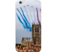 Red Arrows over Lincoln Cathedral iPhone Case/Skin