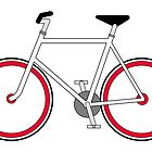 City Velo Fixé - Poster/Print/Card  by Ra12