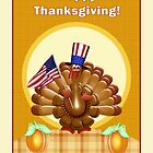 Happy Patriotic Thanksgiving Turkey by xgdesignsnyc