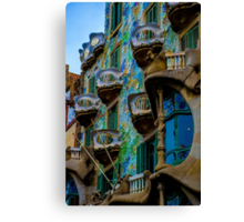 Casa Batllo by Gaudi in Barcelona Canvas Print