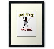 Ski Free And Die Framed Print