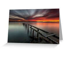 Dusk & Delapidation - Cleveland Qld Australia Greeting Card