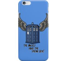 The Angels Have the Phone Box - Doctor Who iPhone Case/Skin