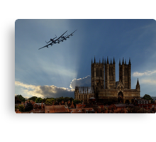 Lancasters over Lincoln Canvas Print