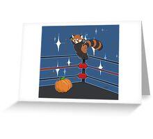 Panda Bodyslam Greeting Card
