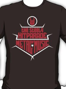 The steely Hitparade of Metal Music 2 (red white) T-Shirt