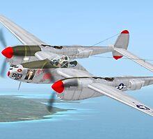 "Richard Bong's P-38 Lightning ""Marge"" by Walter Colvin"