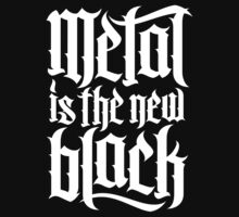 Metal is the new black No.2 (white) Kids Clothes