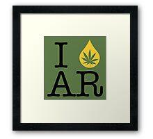I Dab AR (Arkansas) Framed Print